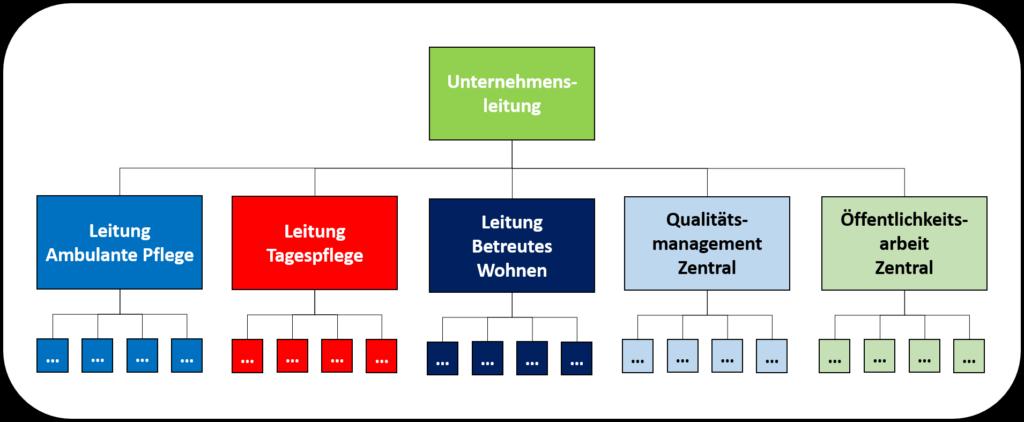 Organisationsmodelle Spartenorganisation mit Zentralbereichen